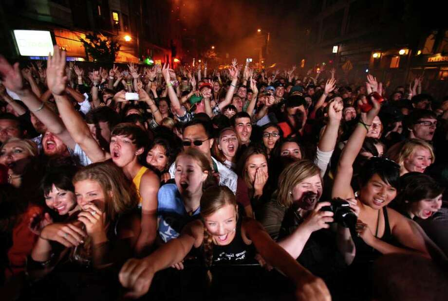 Fans listen to Ghostland Observatory on the main stage during day one of the Capitol Hill Block Party on Friday, July 22, 2011 in Seattle. Photo: JOSHUA TRUJILLO / SEATTLEPI.COM