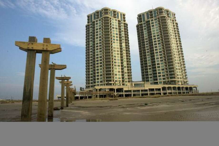 This newly built condominium project on Galveston's East End is part of the recent spurt in development. Photo: JOHNNY HANSON, CHRONICLE