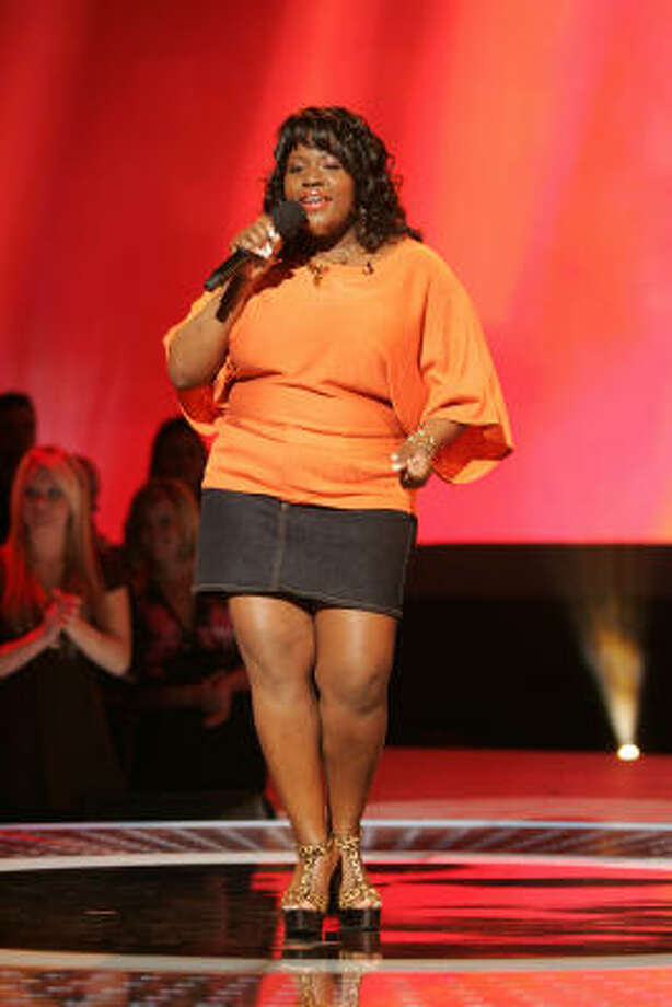 The judges ate up LaKisha Jones' sturdy cover of Donna Summers' Last Dance. Photo: Fox