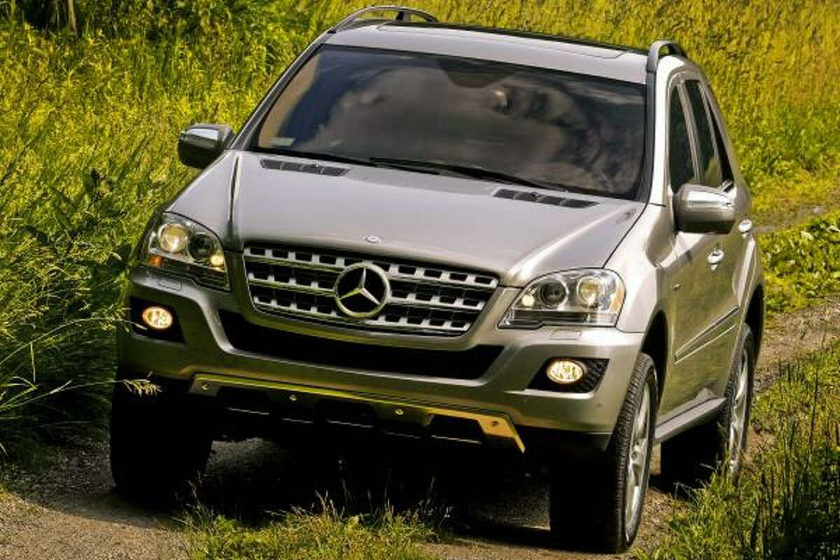 Daimler AG's Mercedes-Benz 2009 ML320 BlueTEC diesel-powered SUV is driven in this photo taken on June 22, 2008. The ML320 BlueTEC, which has a turbocharged V-6 engine that runs on ultra-low-sulfur diesel, retails in the U.S. for $49,475. Source: Mercedes-Benz USA via Bloomberg News EDITOR'S NOTE: NO SALES. EDITORIAL USE ONLY.