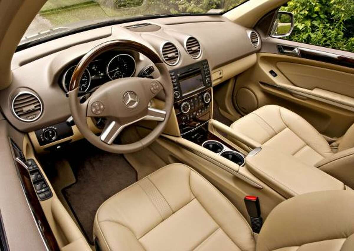 The interior of Daimler AG's Mercedes-Benz 2009 ML320 BlueTEC diesel-powered SUV is shown in this photo taken on June 22, 2008. The ML320 BlueTEC, which has a turbocharged V-6 engine that runs on ultra-low-sulfur diesel, retails in the U.S. for $49,475. Source: Mercedes-Benz USA via Bloomberg News EDITOR'S NOTE: NO SALES. EDITORIAL USE ONLY.