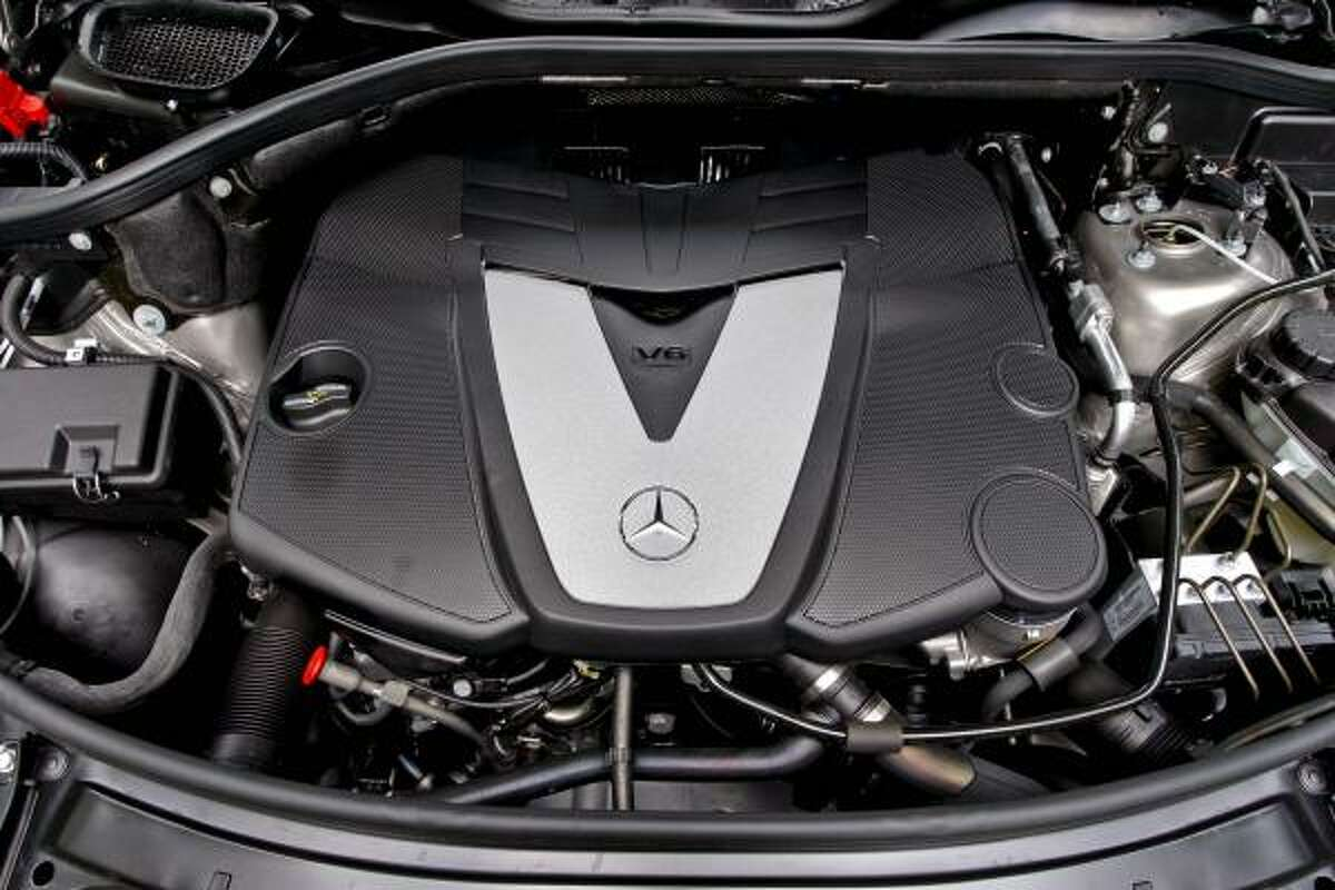 The turbocharged V-6 engine of Daimler AG's Mercedes-Benz 2009 ML320 BlueTEC diesel-powered SUV is shown in this photo taken on June 22, 2008. The ML320 BlueTEC runs on ultra-low-sulfur diesel and retails in the U.S. for $49,475. Source: Mercedes-Benz USA via Bloomberg News EDITOR'S NOTE: NO SALES. EDITORIAL USE ONLY.