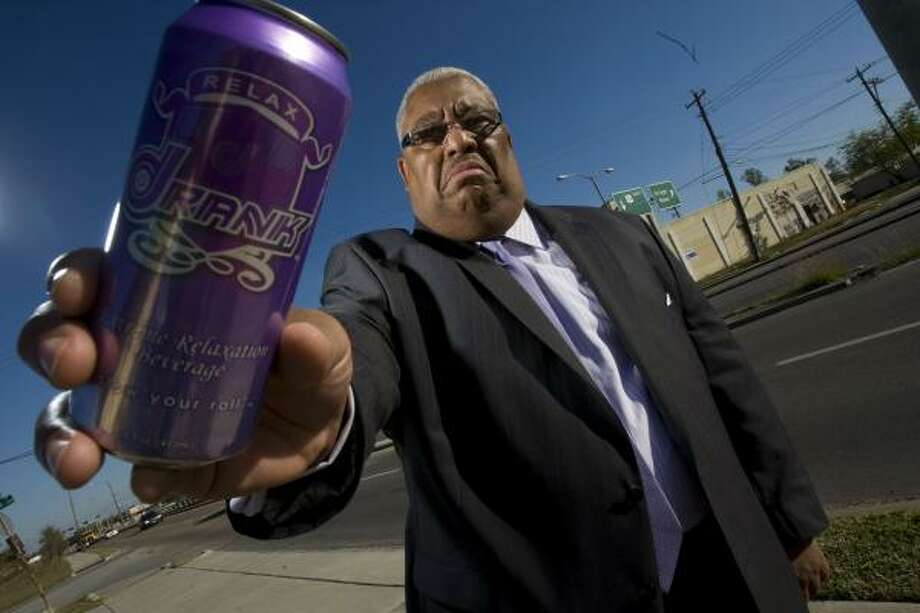 The Rev. Michael P. Williams, pastor of a church in the Third Ward, believes Drank is deliberately marketed to inner-city communities. Photo: NICK De La TORRE, CHRONICLE