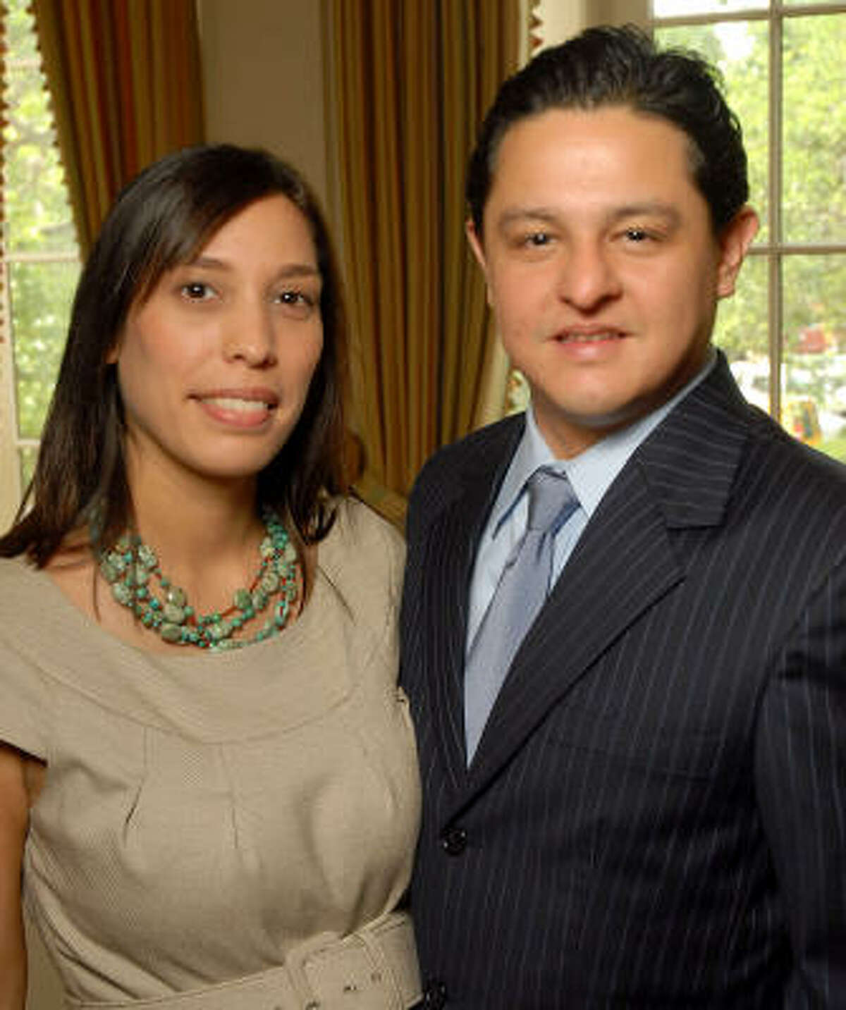 Former Houston Councilman James Rodriguez, shown with Wendy Montoya Rodrigues at a 2009 social event, has been tapped as chief of staff to Pasadena's incoming mayor, Jeff Wagner.