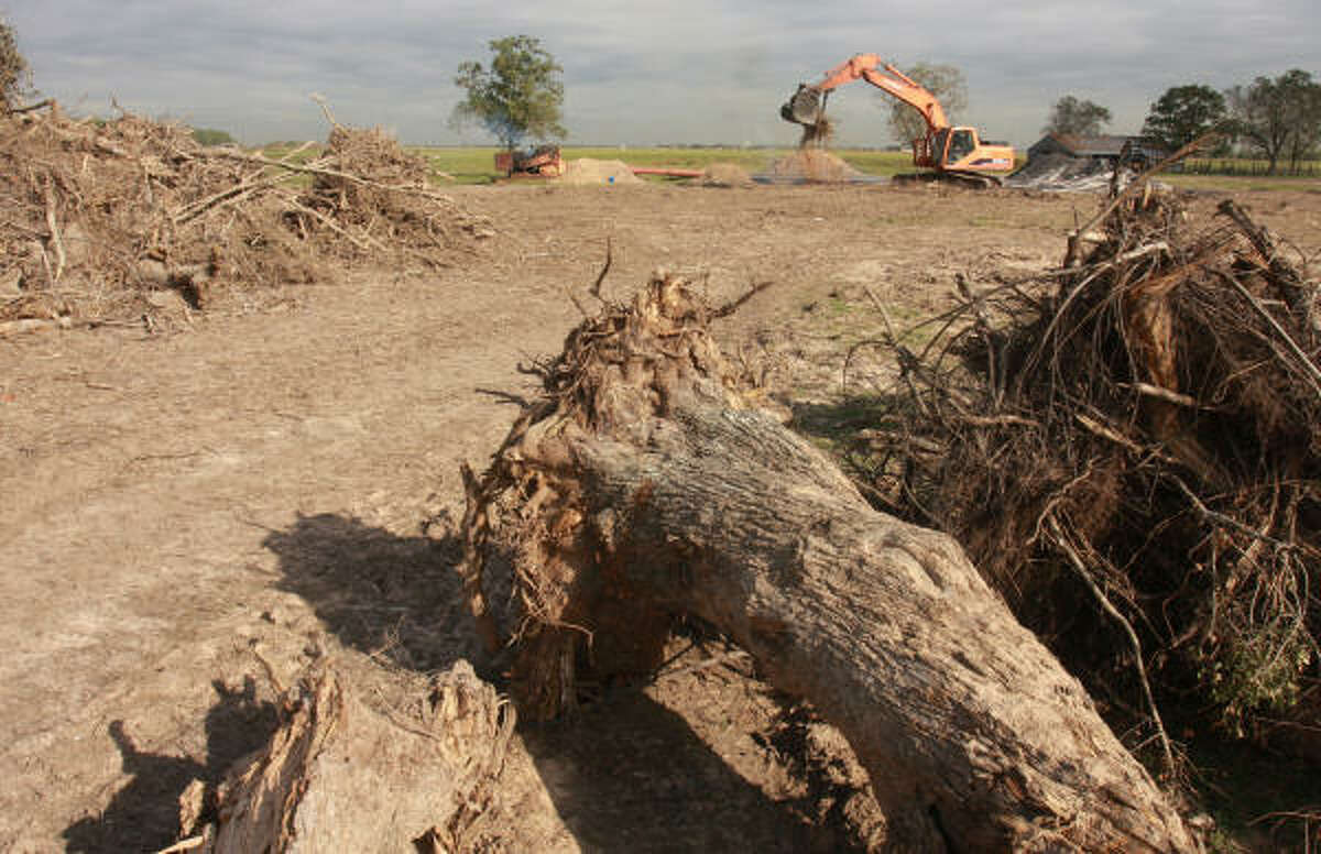 Land was cleared for the Cypress Fairbanks ISD, located on FM 529 about a mile west of Fry Road. The 174 acres is for a new school that was supposed to begin construction in 2010-2011, but construction has been put on hold until 2012-2013.