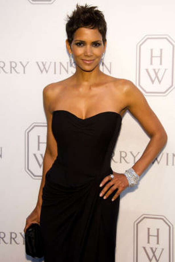 Halle Berry wears a dress that would be a hit at an office party. Photo: Charles Sykes, Associated Press