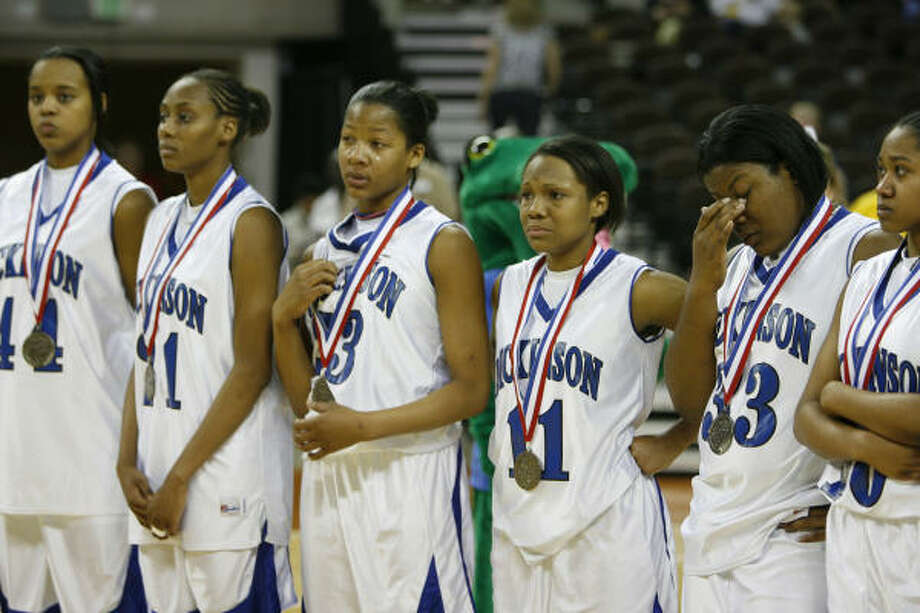 Dickinson fell to Dunbar in the 4A title game, but collected silver medals in the school's first trip to the state tournament. Photo: Kevin Fujii, Houston Chronicle