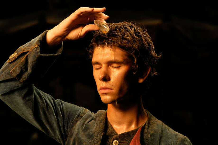 Jean-Baptiste Grenouille (Ben Whishaw) anoints himself with the scent of a woman, in Perfume: The Story of a Murderer. Photo: Jurgen Olczyk, DreamWorks Pictures