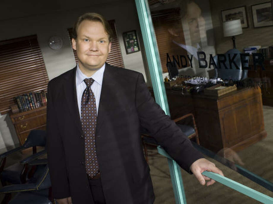 Andy Richter stars in Andy Barker, P.I., as an accountant with a new persona. Photo: Mitchell Haaseth, NBC.