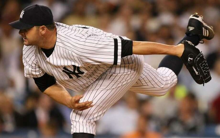 Roger Clemens went eight innings against the Twins to earn the 350th win of his career. Photo: Al Bello, Getty Images