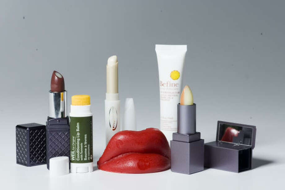 From left: Tarte Inside Out vitamin lipstick, $22, SephoraDr. Andrew Weil for Orgins Conditioning Lip Balm with Tumeric, $15, Origins counters and boutiquesOlay Regenerist anti-aging lip treatment, $19.99, Walgreen's and other storesBe fine food skin care Lip Exfoliator, $19.99, from CVSTarte fRxtion all natural sugar exfoliator and lip balm duo, $11, Sephora. Photo: Buster Dean, Chronicle