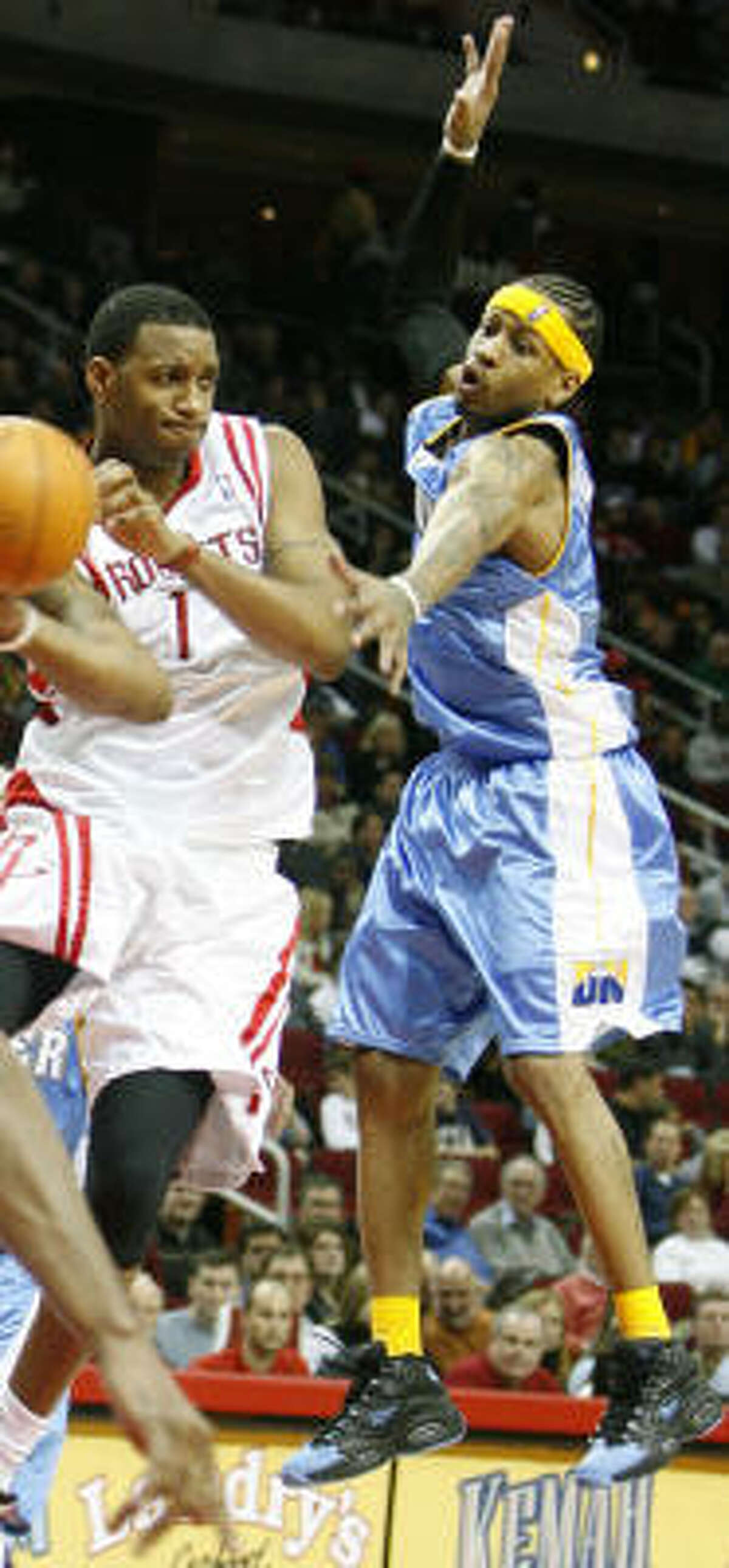 Toyota Center hosted a meeting of All-Stars: Tracy McGrady and Allen Iverson.