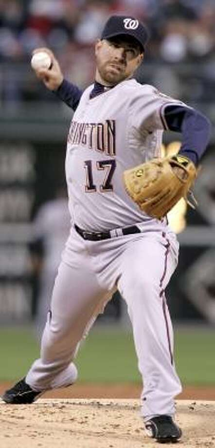 On Wednesday night, Tim Redding displayed a form seldom seen in his four seasons with the Astros. Photo: TOM MIHALEK, AP