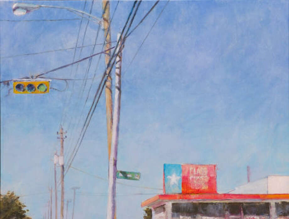 "This 2009 painting, titled ""B38 — Aug 17, 7:59 am,"" is one of several Lillian Warren works included in her exhibition ""Here's Nowhere"" at Rudolph Projects/ArtScan Gallery."