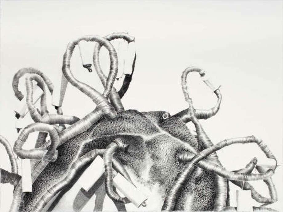 Rabéa Ballin's Untitled (2009), black Prisma on paper. Photo: Rabéa Ballin