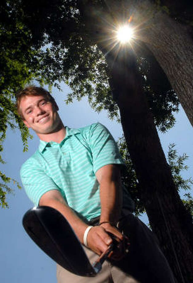 Bronson Burgoon was a two-time Class 5A state golf champion for The Woodlands. Photo: Dave Rossman, For The Chronicle