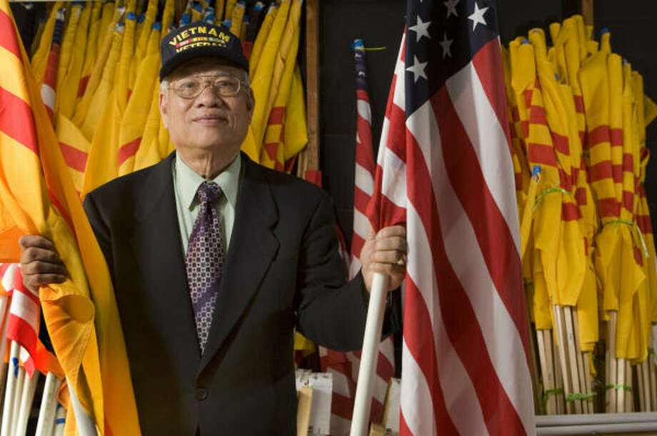 Phung Nhu Truong of Houston, a former Vietnamese army colonel, said he is against a consulate being opened here as long as Vietnam is communist. Photo: Brett Coomer, Chronicle