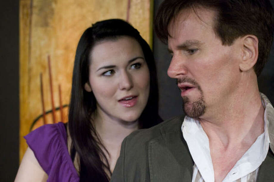 "Actors Chelsea McCurdy as Madison and  Jonathan McVay as David star in ""True Love Lies."" Photo: Billy Smith II, Chronicle"