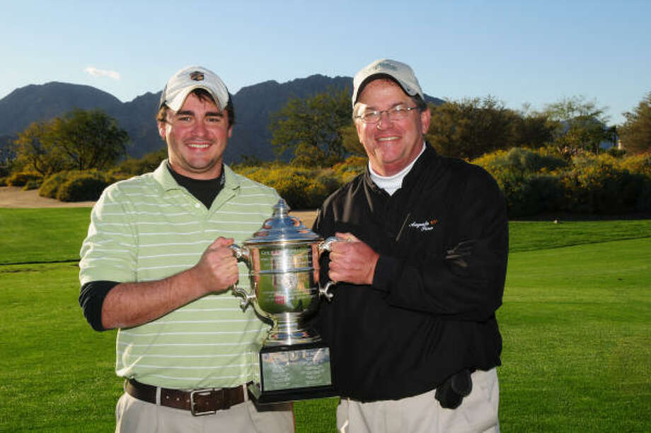 Adam, left, and Alan Hess are a formidable team in father-son competition. Photo: GARY NEWKIRK, Courtesy Of GCSAA