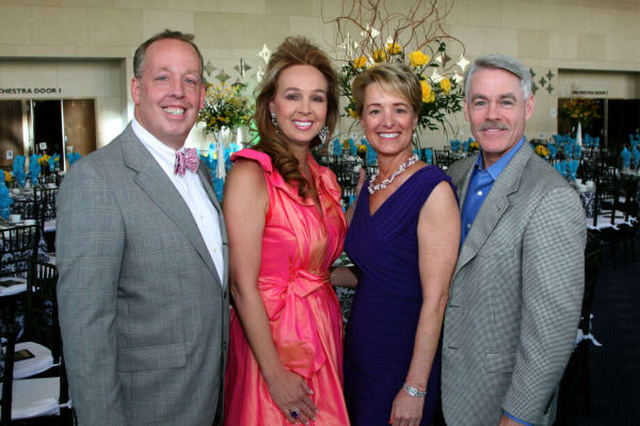 David and Julie Brown and Brenda and Tom Koch at the Building Hope for Children Gala. Photo: Kim Coffman