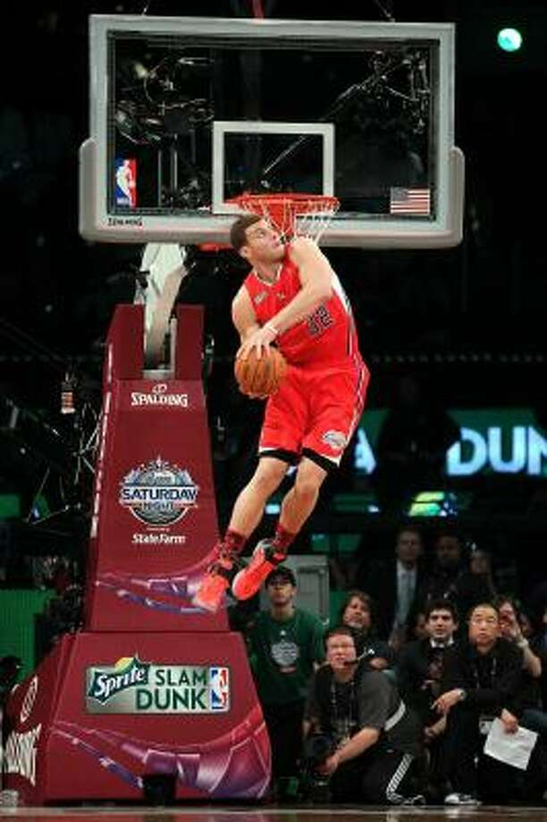 Clippers forward Blake Griffin thrilled the home team fans on All-Star Saturday. Photo: Jeff Gross, Getty Images