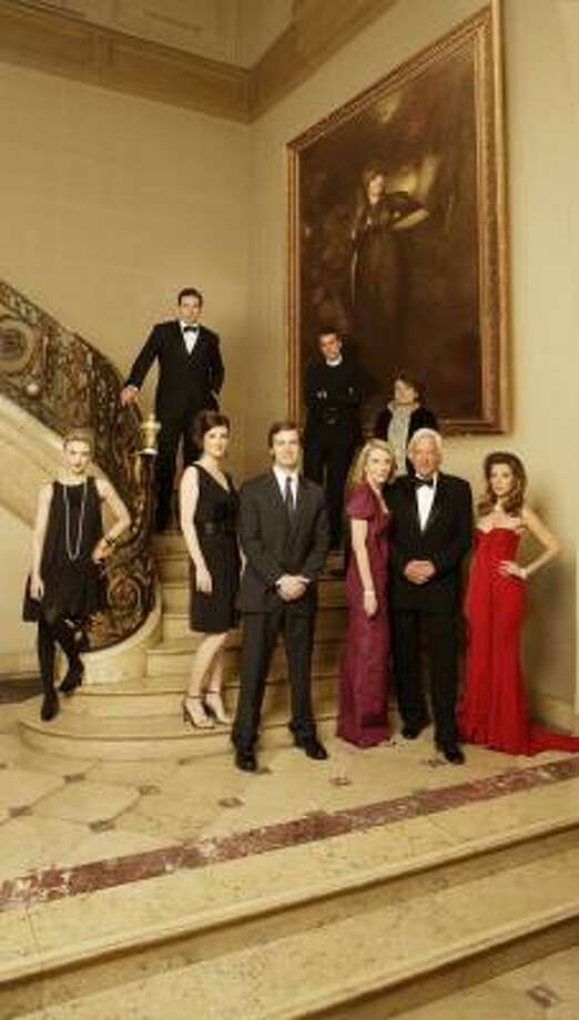 Peter Krause, center, plays the idealistic personal lawyer of an absurdly wealthy New York family. Co-stars include Samaire Armstrong, from left, Zoe McLellan, Jill Clayburgh, Donald Sutherland and Natalie Zea, as well as (back row) William Baldwin, Glenn Fitzgerald and Seth Gabel. Photo: BOB D'AMICO, ABC