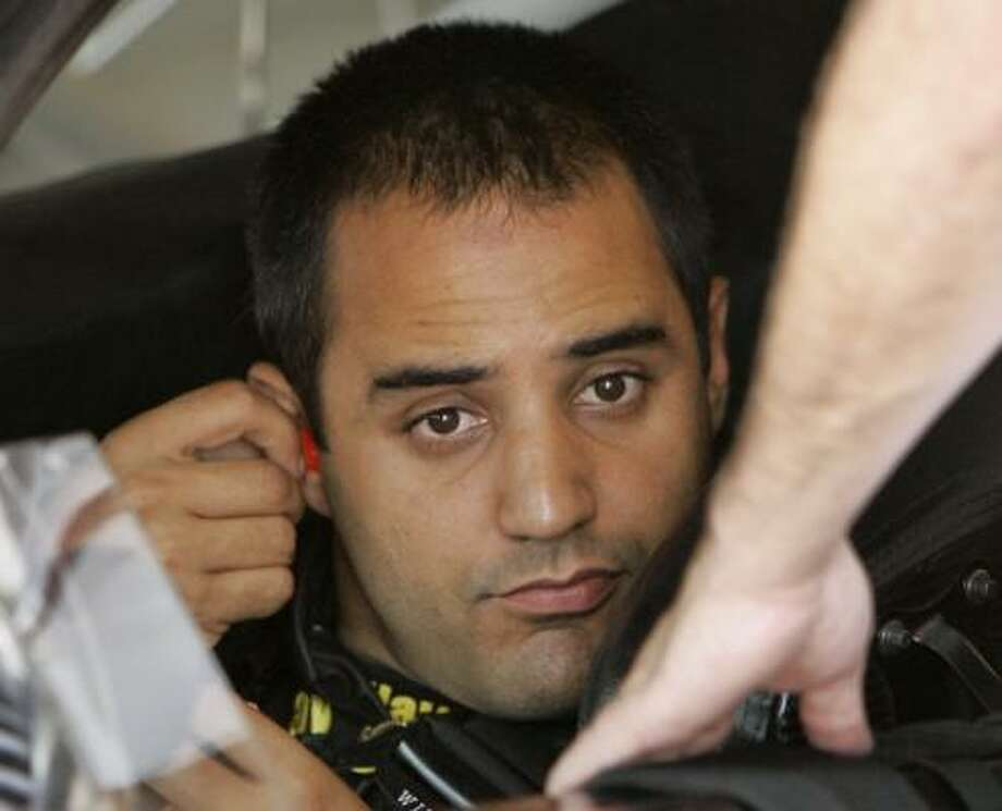 Juan Pablo Montoya, preparing to practice Friday, won the Indy 500 at Indianapolis Motor Speedway, but he's a long way from mastering oval racetracks in a Nextel Cup car. Photo: SKIP STEWART, ASSOCIATED PRESS