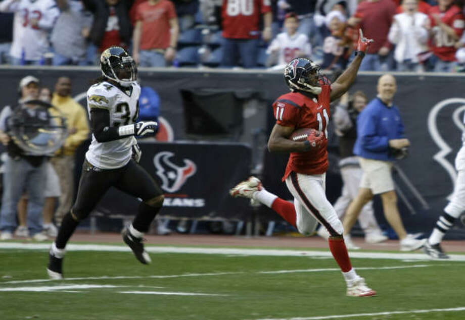 Houston Texans wide receiver Andre' Davis (11) is headed for a big payday this offseason. Photo: Brett Coomer, Houston Chronicle