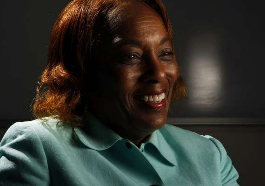 """Charlesetta Deason, principal at DeBakey High School for Health Professions, will leave Houston next month for Doha, Qatar. She conferred with famed physician Michael E. DeBakey, who urged her to accept an ambassador's offer. """"That sealed it for me,"""" she said. Photo: KEVIN FUJII, CHRONICLE"""