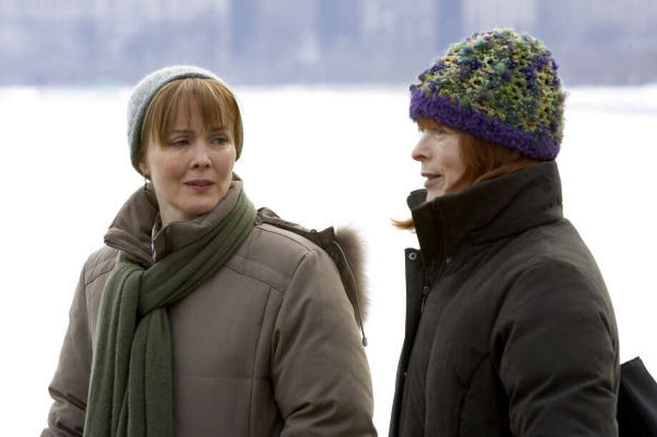 Laura Innes, left, who plays Dr. Kerry Waver on NBC's ER, is one of only three regular gay or lesbian characters on network television this fall. Frances Fisher is also pictured. Photo: NBC Universal