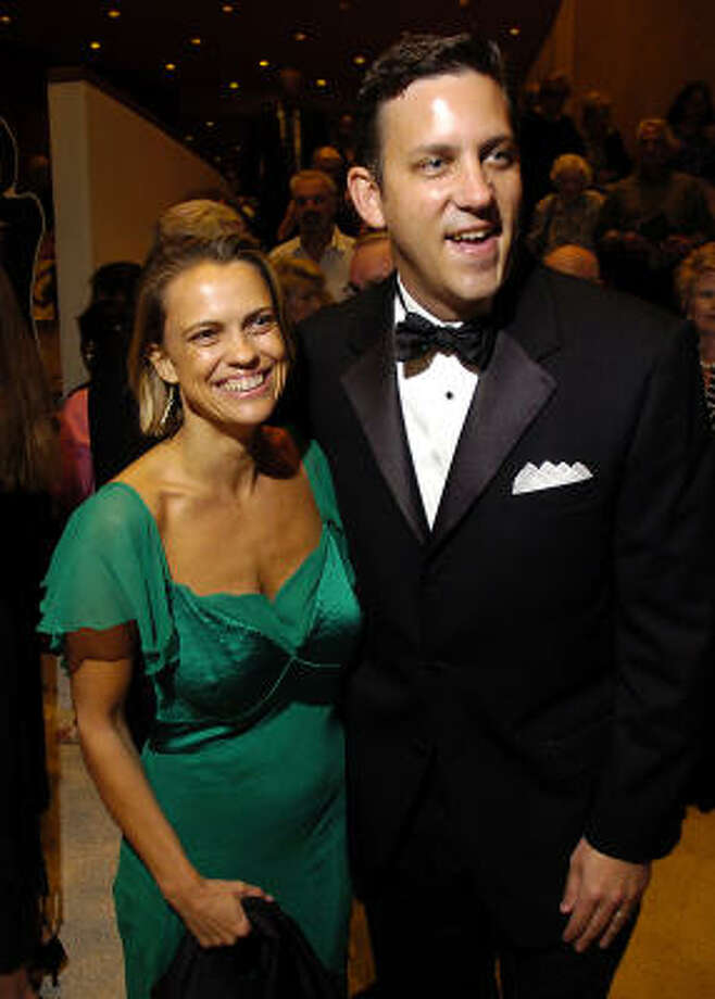 Rosie Jowitt and Matthew VanBesien, symphony executive director and CEO, join the symphony's post-concert gala. Photo: Dave Rossman, For The Chronicle
