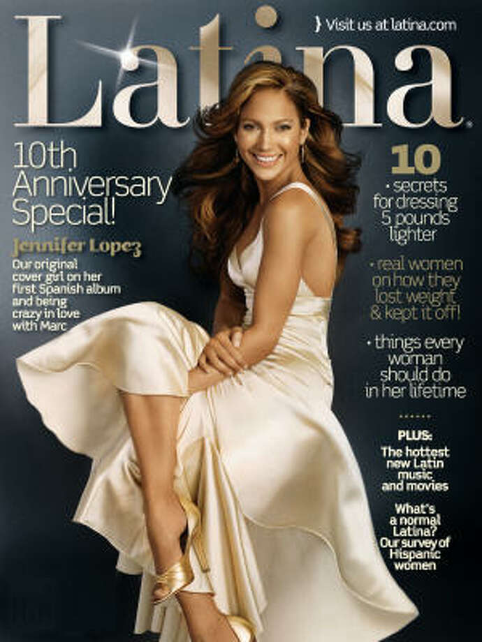 Jennifer Lopez appears on the cover of Latina magazine for its 10th-anniversary issue.