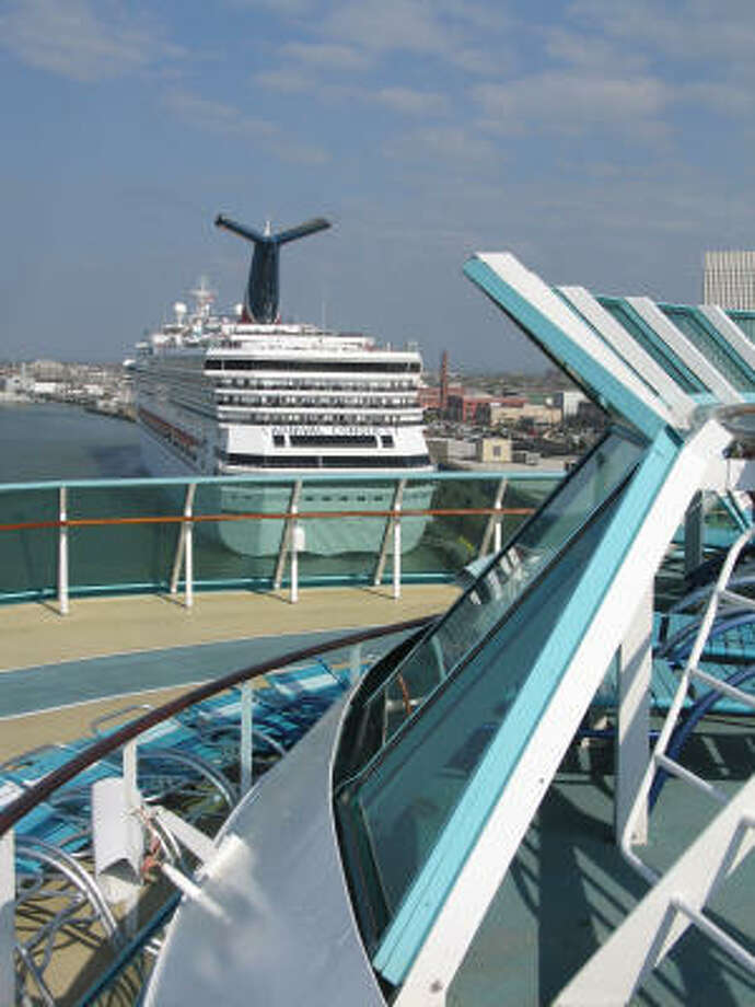 The Carnival Conquest also is a Katrina evacuee who has made a home here. Photo: Catherine McIntosh, Chronicle