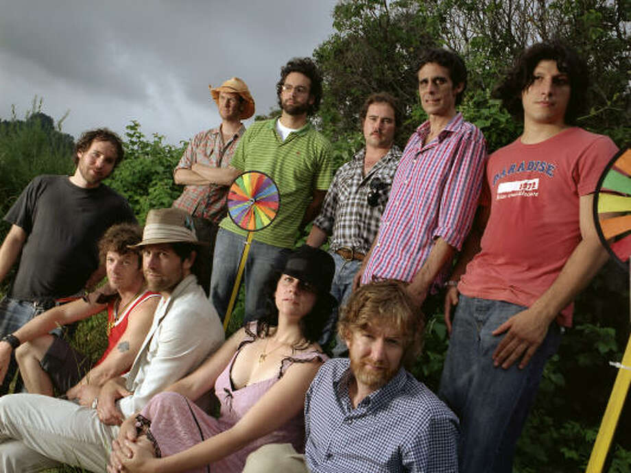 Brendan Canning, bottom right, said Broken social Scene has a very fluid list of band members. Photo: Wendy Lynch