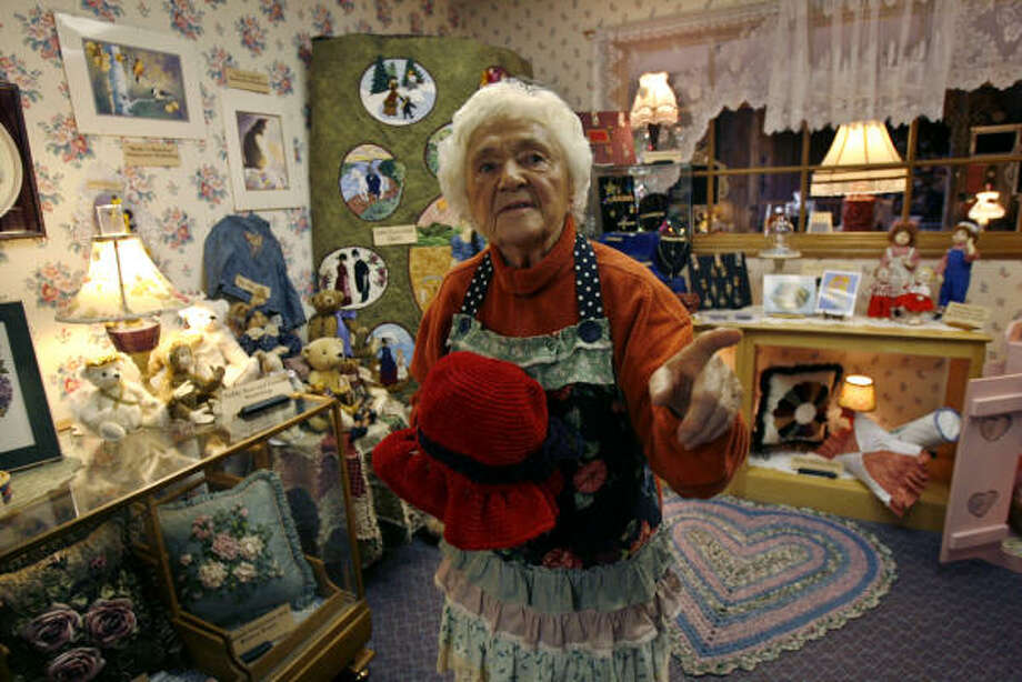 """Marie Kolasinski, founder of the Piecemakers, a small religious sect that runs a country store, says she's fighting a """"spiritual war"""" against county health inspectors in Costa Mesa, Calif. Photo: RIC FRANCIS, AP"""