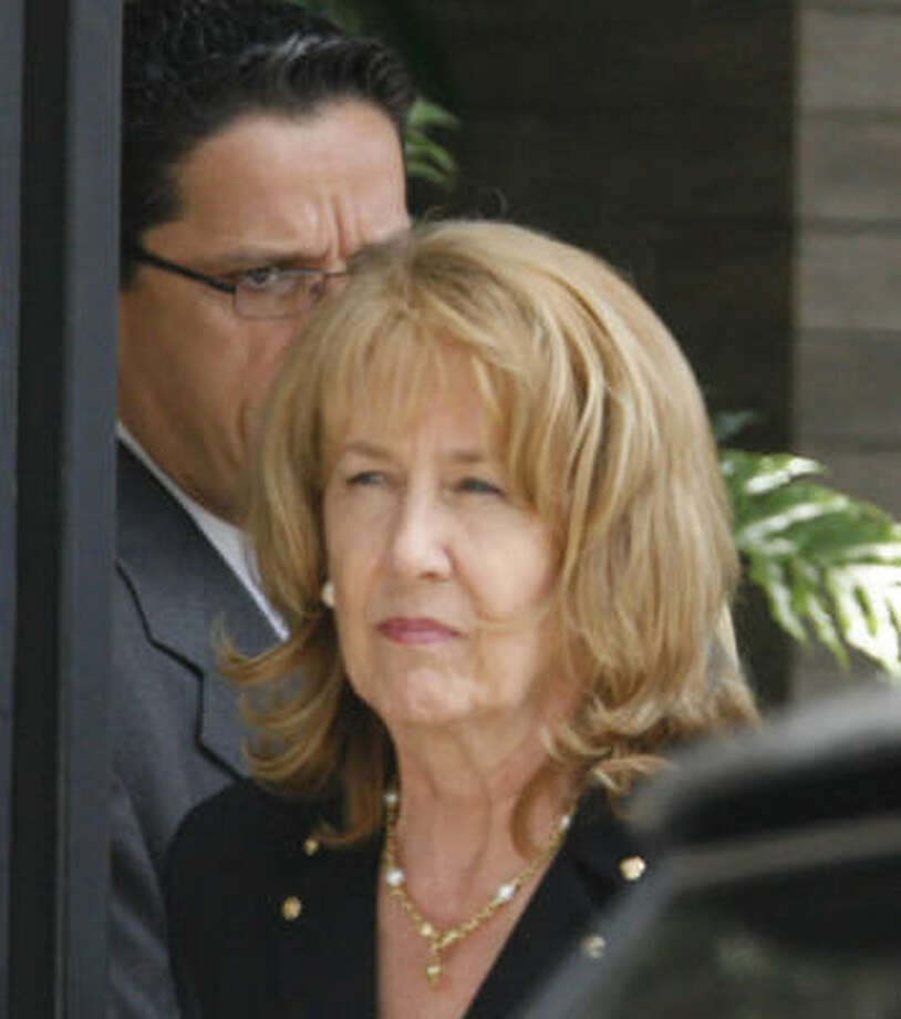 Linda Lay argued that the case should be dismissed because the government is trying to tie tainted funds to money laundering, a crime with which her late husband, Ken Lay, never was charged. Photo: MELISSA PHILLIP, CHRONICLE