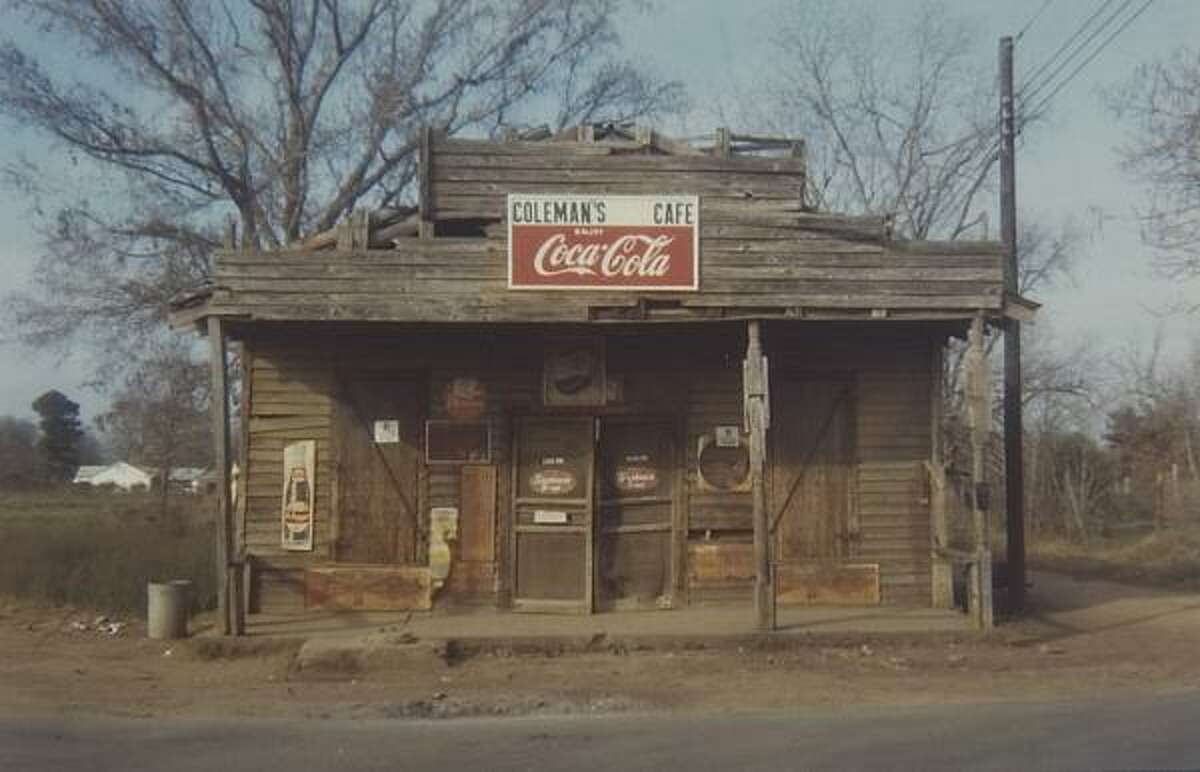 This William Christenberry photograph of Coleman's Cafe in 1971 in Greensboro, Ala., is part of the Vivid Vernacular installation at the Menil Collection.