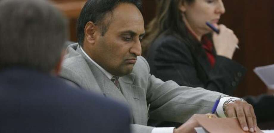 Hardeep Grewal says he fired three warning shots into the air with his AK-47 assault rifle before firing a fourth shot into the chest of a man in his front yard, killing him, in September 2005. He said he fired the fatal shot after the man pointed an unknown object at him. Photo: STEVE CAMPBELL, CHRONICLE