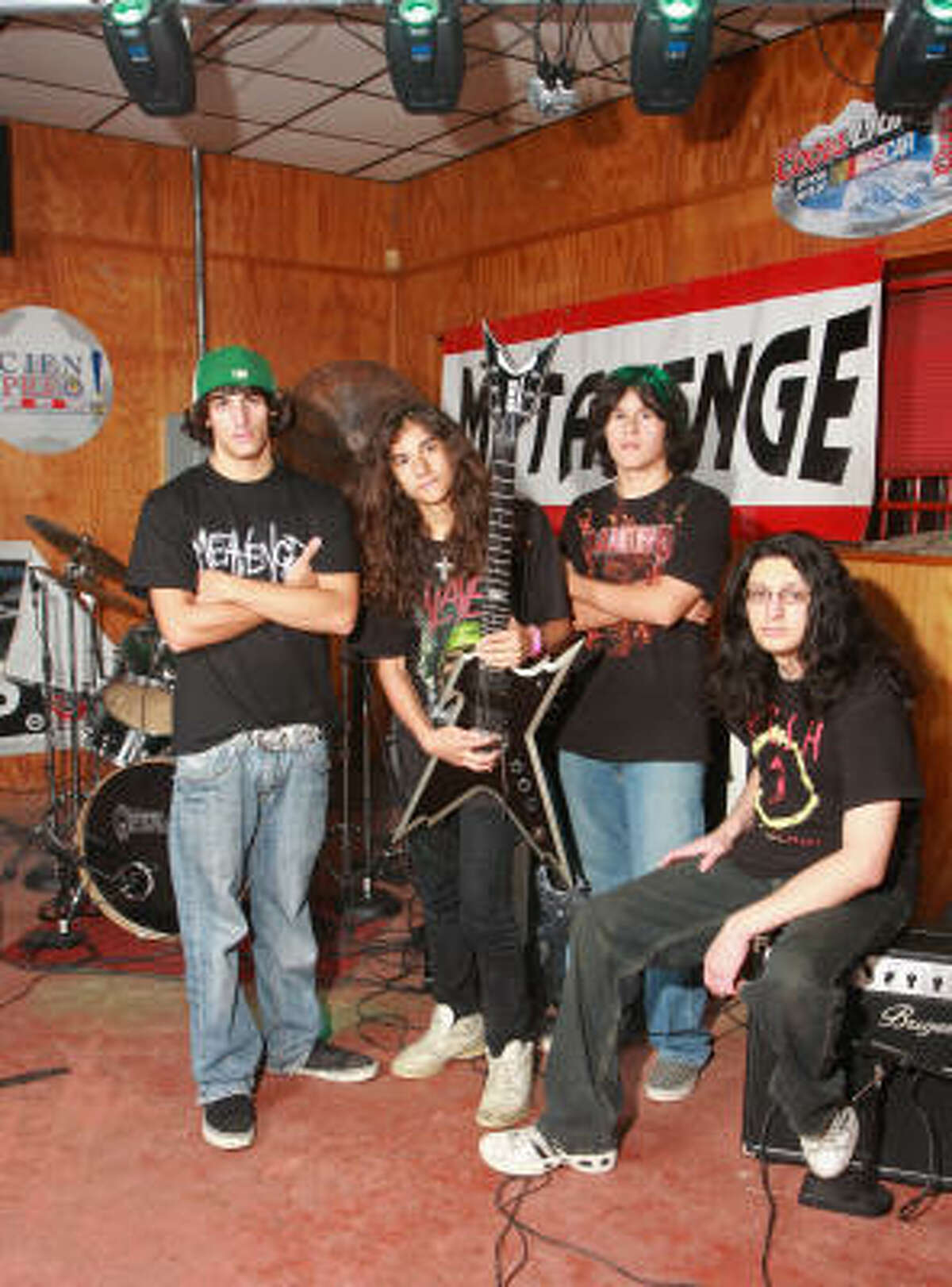 Members of Metavenge, lead guitarist Tony Bastida, from left, lead vocals and guitar Anthony Cruz, drummer Brandon Galvan, and bass guitar, Evan Bastida.