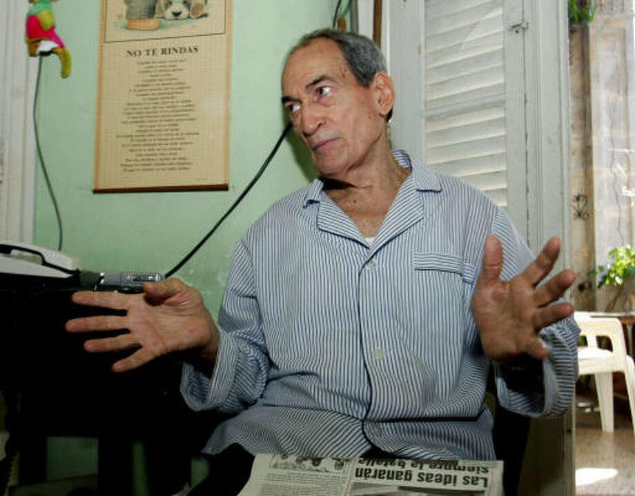 Cuban veteran dissident Gustavo Arcos Bergnes. Photo: JORGE REY, AP File