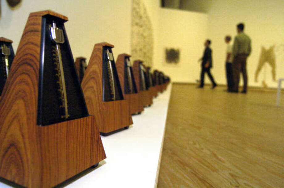 Metronomes are quiet before the Musiqa preview performance of Ligeti's work last month. Photo: Johnny Hanson, For The Chronicle