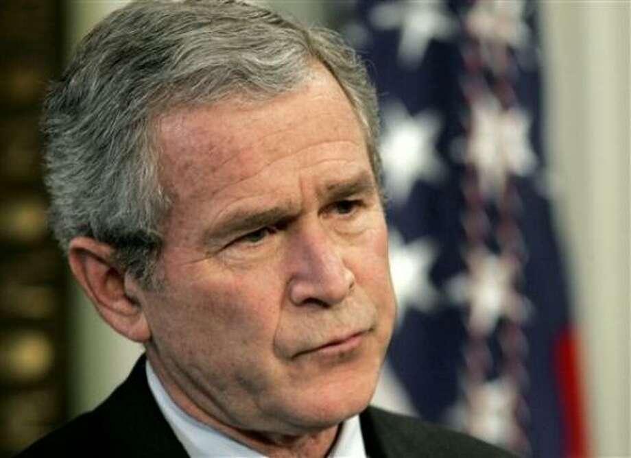 President Bush. Photo: RON EDMONDS, AP