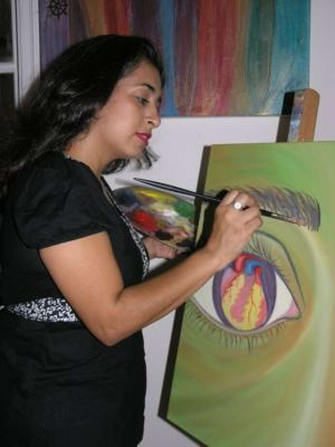 Yvonne Zepeda had a heart attack one week before her 40th birthday. With art being a part of her healing process, she's creating a new series titled Heart of the Matter. Photo:  Fannie Williams, For The Chronicle