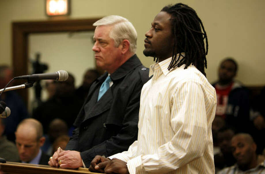 "Tennessee Titans cornerback Adam ""Pacman"" Jones appeared in a Tennessee court in January when public intoxication and disorderly conduct charges against him were dismissed. He is now at the center of a new controversy which involves a shooting at a Las Vegas strip club. Photo: Dipti Vaidya, AP"