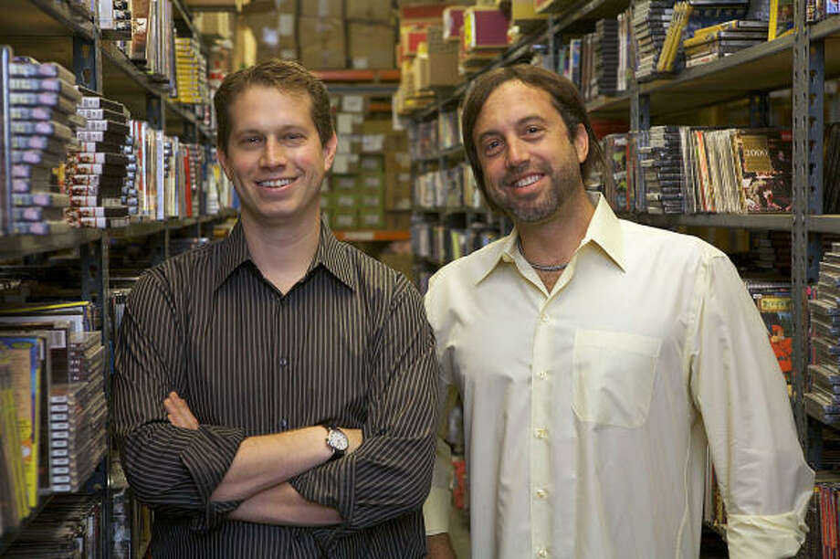 Ryan Kugler, left, president of Distribution Video Audio in Burbank, Calif., and his brother Brad, the chief executive, have shipped their last VHS tapes. Photo: TPN