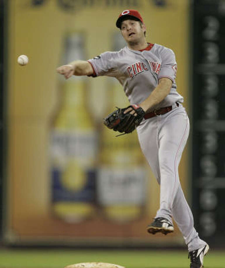 Jeff Keppinger will likely platoon with Geoff Blum at third base for the Astros. Photo: Julio Cortez, Chronicle