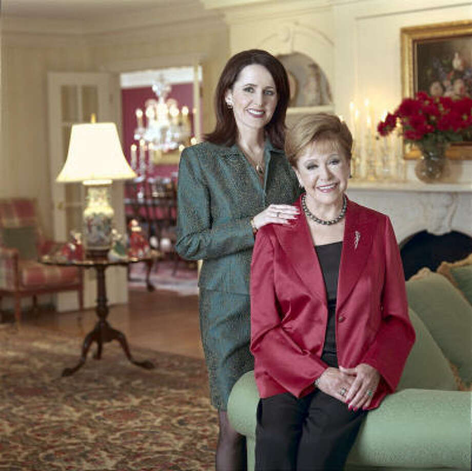 Suspense writers Carol Higgins Clark, standing, and mother Mary Higgins Clark Photo: Courtesy Photo