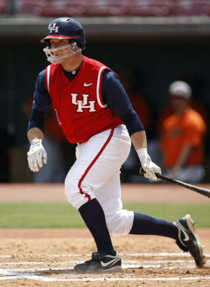 University of Houston catcher Chris Wallace leads the Cougars with seven home runs this season. Photo: Julio Cortez, Chronicle