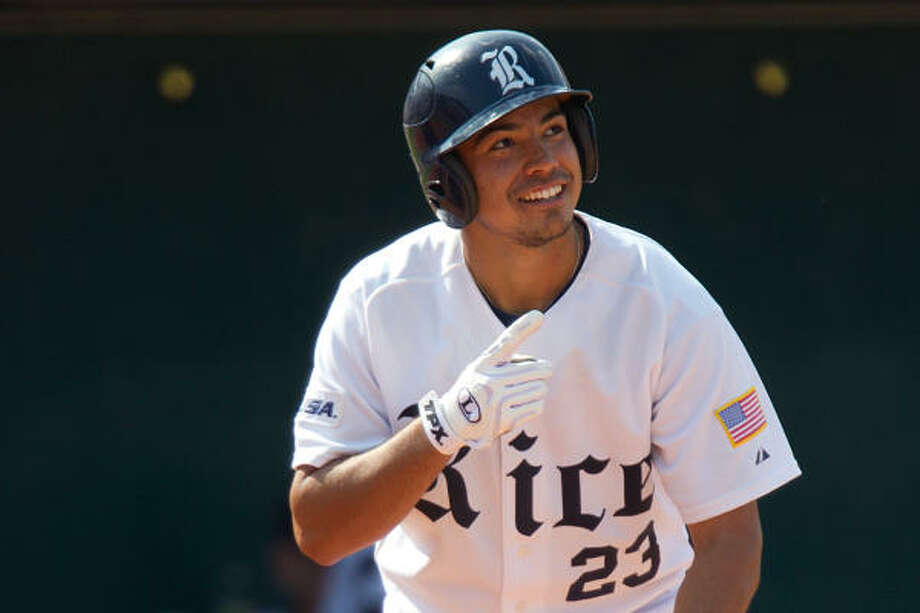 Rice third baseman Anthony Rendon hit .394 with 26 home runs and 85 RBIs last season. Photo: Smiley N. Pool, Chronicle