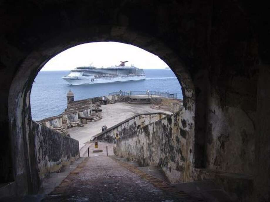 San Juan Harbor from the Paseo del Morro in Old San Juan, Puerto Rico. A visit to Old San Juan can be more than just an afternoon's diversion; it's worth considering this extraordinary enclave as a base for your vacation, and as an alternative to a beach resort. Photo: Hational Park Service   Associated Press